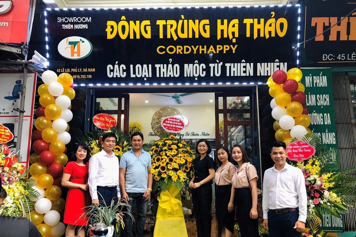 Khai trương Showroom Thiên Hương - Đại lý Đông trùng Hạ thảo CordyHappy tại Phủ Lý, Hà Nam